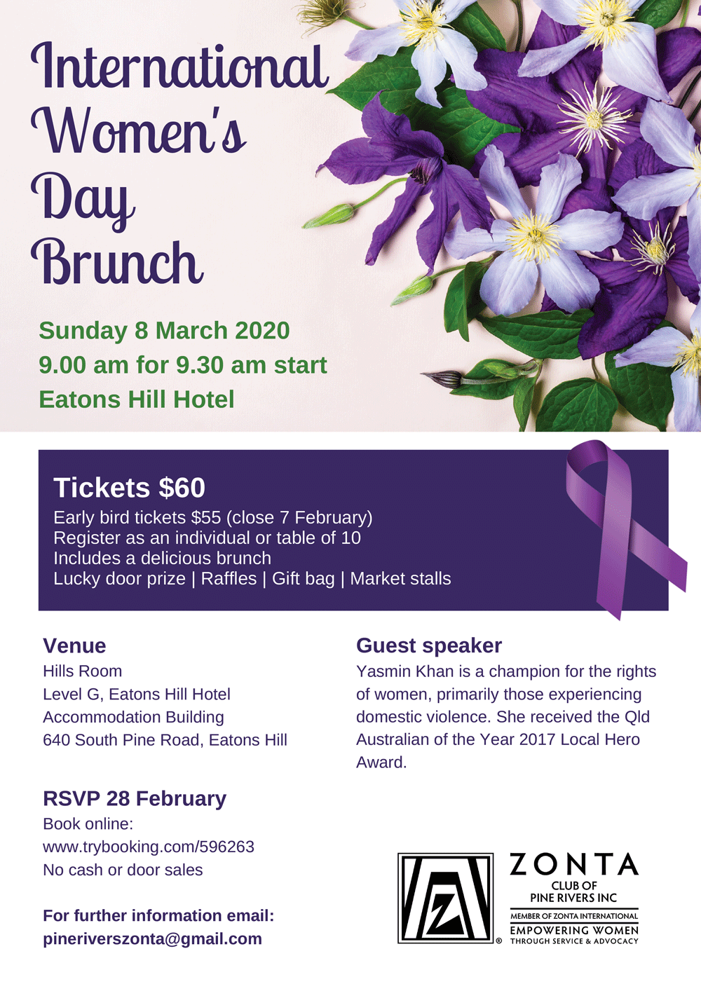 The Zonta Club of Pine Rivers International Women's Day ...